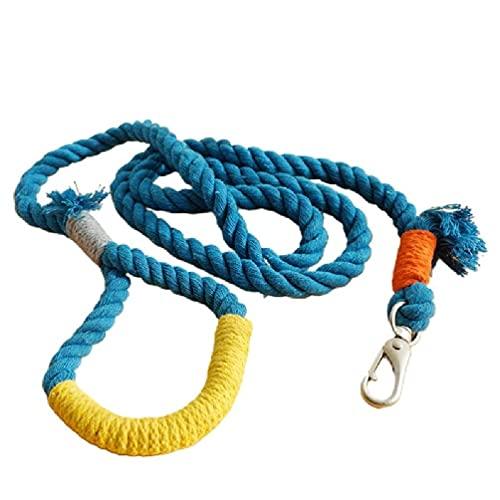 unknows Rcevbocc - Correa para perro, 1,5 m, de algodón, para entrenamiento de perro, correa redonda para perros pequeños, medianos y gatos