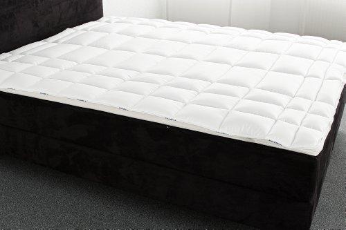 Badenia 03 780 280 150 Bettcomfort Auflage Irisette Vitamed, 160 x 200 cm, weiß