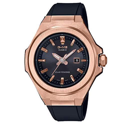 Casio G-Shock Women's MSGS500G-1A Solar Powered Analog Watch Rose Gold/Black