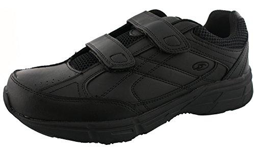 Dr. Scholl's - Men's Brisk Light Weight Dual Strap Sneaker, Wide Width (9 Wide, Black)