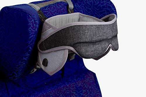 NapUp Fly Plus 360° Support Travel Pillow with Built-in Speakers and Eye Mask (Fly Plus Grey)
