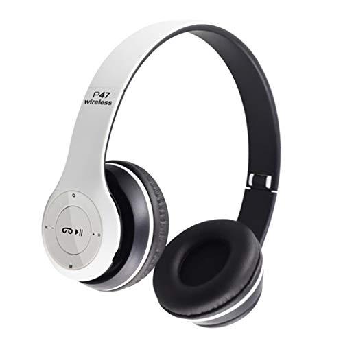 H HILABEE Auriculares Deportivos Bluetooth Cascos Bluetooth/Súper Estére*o, Distancia de Conexión: 1s 10 Metros, Tecnología de Reducción de Ruido - Blanco