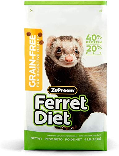 ZuPreem Premium Daily Grain Free Ferret Diet Food - Nutrient Dense, Highly Digestible, High Protein Levels (4 lb Bag)