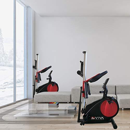 AsVIVA RA6 2in1 Rudergerät Liegeergometer Cardio für zuhause leises Magnetbremssystem | 13KG Schwungmasse | Fitnesscomputer mit 16 Stufen | integrierter Pulsempfänger | klappbar