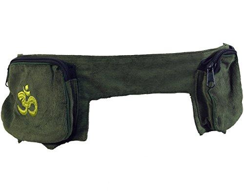 GURU SHOP Sidebag, Goa Gürteltasche - Grün, Herren/Damen, Baumwolle, Size:One Size, 15x120x7 cm, Festival- Bauchtasche Hippie