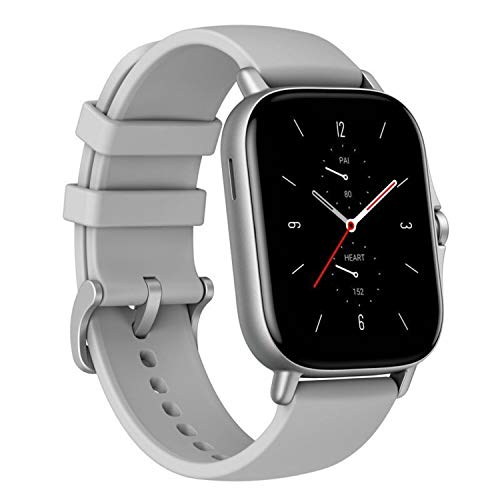 Amazfit GTS 2 - Smartwatch, Pantalla AMOLED, 341 PPP, BioTracker 2PPG, Frecuencia Cardíaca 24 Horas, Monitoreo Sueño, Nivel Estrés, 12 Modos Deportivos, 5ATM, (Color Gris)