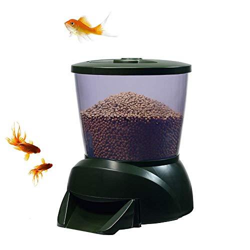 NOBGP Alimentador automático de Peces, Smart Aquarium Fish Pond Feeder Timer Dispensador...