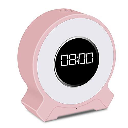Kfhfhsdgsatd Lampara Mesa Vida de batería AUX recollective, reproducción de la Tarjeta TF, FM inalámbrica, función de Tiempo, Reloj de Alarma de Uso, Bluetooth 4.2, atenuación táctil