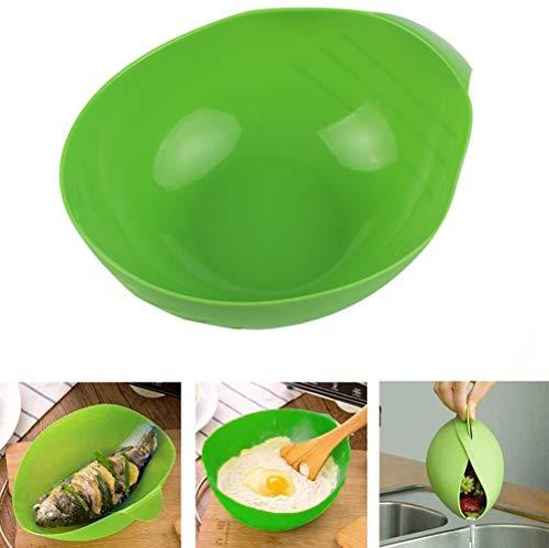 2 Stück Faltbare Allzweck-Silikon-Kochtasche, wiederverwendbarer Mikrowellen-Gemüsedampfer, Silikon-Brotschale, spülmaschinenfest