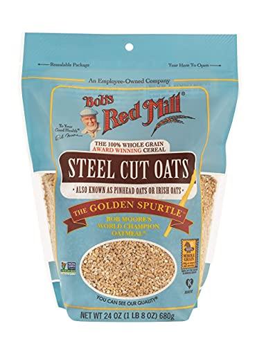 Bob's Red Mill 100% Whole Grain Steel Cut Oats Golden Spurtle, 24 OZ (Pack of 3)