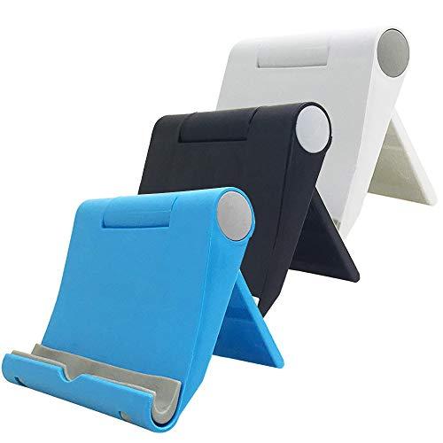 Afunta - Supporto per telefono cellulare multi-angolare, regolabile, pieghevole, supporto per cellulare, compatibile con iPhone XS/X/8/7 Plus/iPad, Galaxy Series, confezione da 3, 3 colori