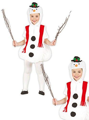 Disfraz de muñeco de nieve infantil 5-6 años