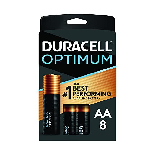 Duracell Optimum AA Batteries | 8 Count Pack | Lasting Power Double A Battery | Alkaline AA Battery Ideal for Household and Office Devices | Packaging May Vary
