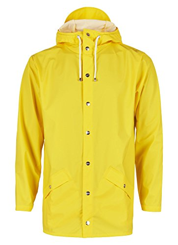 RAINS Waterproof Short Chaqueta, amarillo, X-Small para Hombre
