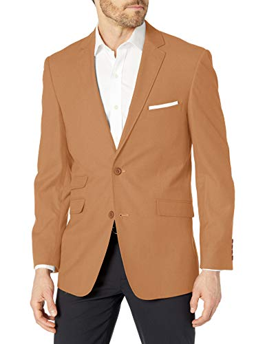 U.S. Polo Assn. Men's Polyester Blend Sport Coat, tan Solid, 42 Long
