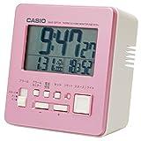 CASIO(カシオ) 目覚まし時計 電波 ピンク デジタル 温度 湿度 カレンダー 表示 DQD-805J-4JF