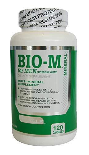 Uckele Bio-M for Men Dietary Supplement, Multi-Mineral Supplement, Magnesium, Zinc, 120 Capsules