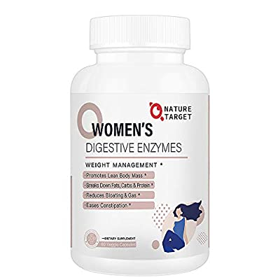 Digestive Enzymes for Women - Vegan Enzymes - Supplement for Weight Loss - Organic Enzymes for Better Digestion, Helps Relief Gas & Constipation, Gluten & Soy Free 60 Count
