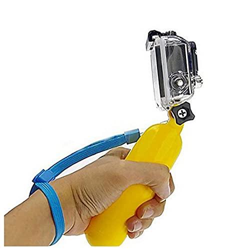 Portátil Flotante apretón de la Mano de la manija Impermeable Copa flotadores Grib Monte Accesorios compatibles con la cámara GoPro héroe Sesión - Sonido Amarillas