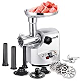 Ivation 2.5hp Electric Meat Grinder Mincer 1800 Watt, Sausage Stuffer - Heavy Duty - 3 Stainless...