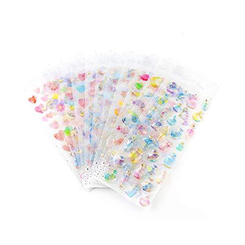 Ruiting Cartoon Briefpapier Aufkleber Mädchen Student Wandsufkleber für Kinderzimmer Tagebuch Schreibwaren.Bunte Aufkleber 12 unterschiedlich Sätze.