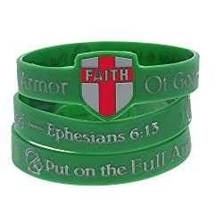 Holy Armor Of God Silicone Bracelets with Shield
