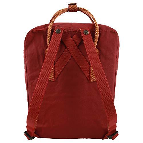 FJÄLLRÄVEN Unisex Adult Kånken Backpack - Ox Red-Goose Eye, 27 x 13 x 38 cm/16 Litre