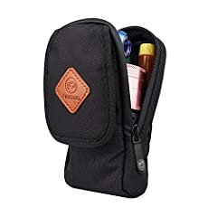 【SMELL PROOF TECHNOLOGY】: Vape pouch is made of 900D polyester and lined with activated carbon and filtering non-woven fabric offering smell proof. 【PLENTY OF ROOM】There are 2 elasticized loops to hold your mod and a bottle of juice in place. A mesh ...