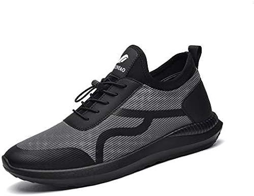 ECSD Herren Laufschuhe Leichte Atmungsaktive Mode Turnschuhe Tennisschuhe (Farbe   Grau, Größe   EU39 UK6.5 CN40)