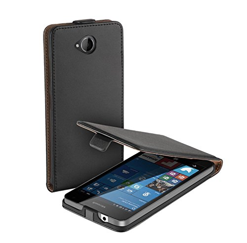 yayago Flip Tasche für Microsoft Lumia 650 Hülle Flip Hülle Schwarz
