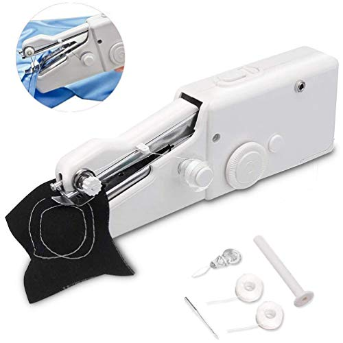 Buy MOLLY COOCLE Handheld Sewing Machine, Cordless Portable Electric Mini Sewing Machiner Fast and E...