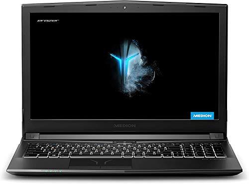 """Medion ERAZER P6605 - Portátil gaming 15.6"""" FullHD (Intel Core i5-8300H, 8GB RAM, 256GB SSD + 1TB HDD, GeForce GTX 1050-4GB, sin Sistema Operativo) - Teclado QWERTY Español"""