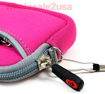 -- Hot Pink High-Quality Mini Sleeve Pouch Bag for Nikon Coolpix S570 Digital Camera {+ 1pc name tag} -- Best Seller on Amazon!