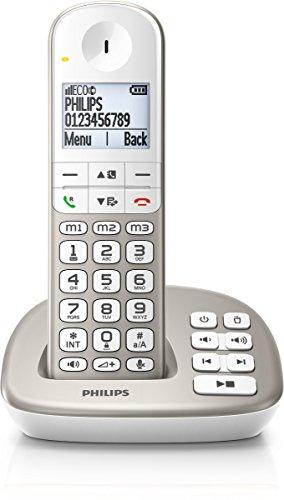 PHILIPS XL4951S/05&Nbsp; Schnurlostelefon mit Anrufbeantworter, 4, 8&Nbsp; cm Gro&Szlig; es Display und Wei&Szlig; E Hintergrundbeleuchtung