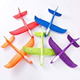 Amandakasa フォーム航空機 子供 フォーム 手投げ飛行機 飛行 グライダー 屋外スポーツおもちゃ モデル 模型 屋外 体にはライト付き ランダム色 教育 誕生日パーティー 48cm 2飛行モード おもちゃ キッズ