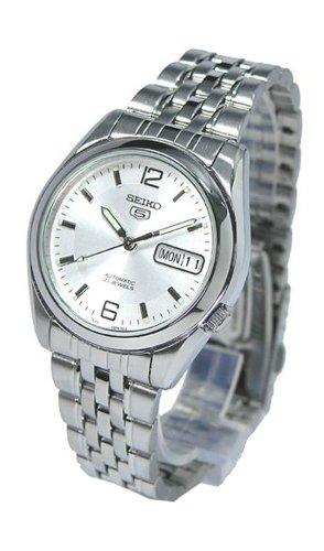 Seiko Herren Analog Automatik Uhr mit Edelstahl Armband SNK385K1