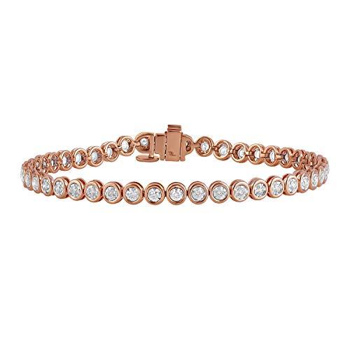 2 Carat Certified Lab Grown Diamond Tennis Bracelet for Women 7.5 Inches (GH,SI)14K Rose Gold Diamond Bracelet Diamond Jewelry Gifts