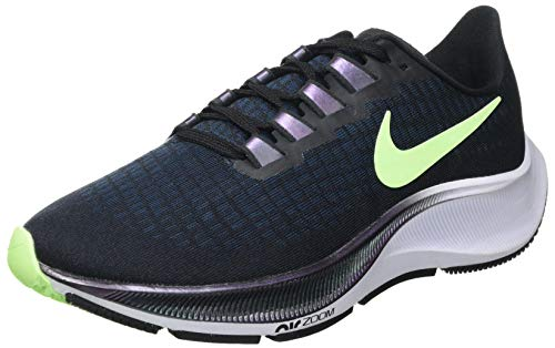 Nike BQ9647-001, Sneaker Mujer, Negro/Ghost Green-Valerian Blue, 38 EU