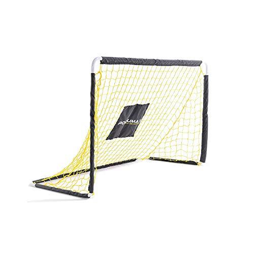 PodiuMax Stählernes Fußballtor für Kinder | Faltbar mit Stabilem Netz | 122cm * 72cm | Perfekt für Hockey/Indoor/Outdoor/Garten
