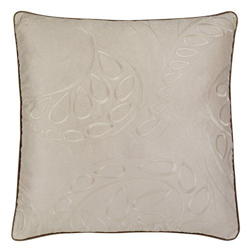 Kissenhülle ÖKO-Tex b.b. Home passion Kissenbezüge 48x48cm floral Stickerei beige