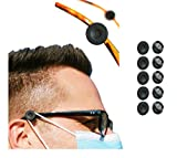 Olymmont A Pair Glasses Elastic Face_Mask Regulator Liberate Ears Hooks Stop Your Ears Getting Sore, Ear Savers Extenders Spectacle Ear Protectors Extension Button Adjuster Clip Adults Kids (10PCS)