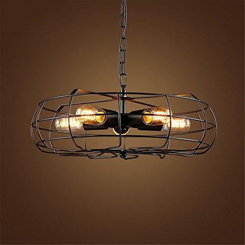 ZCZZ Luces Colgantes Vintage Ventilador eléctrico de inspiración Industrial Lámpara Colgante de Comedor Decoración Creativa Accesorio de iluminación-Negro