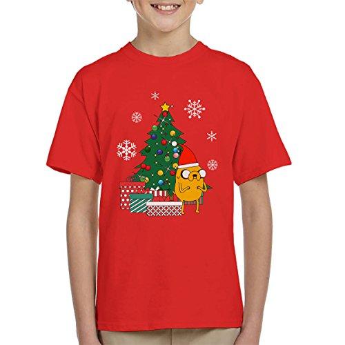 Adventure Time Jake Christmas Tree Kid\'s T-Shirt