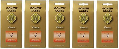 【5個セット】 GONESH(ガーネッシュ)インセンス コーン CLASSIC No.4 (お香)25個入り