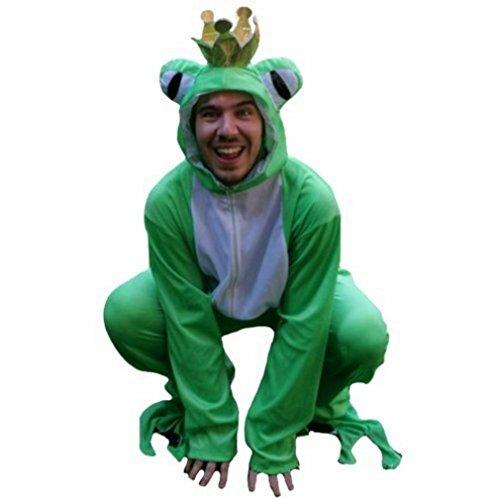 Frosch-König Kostüm, SY12/00 Gr. XL, Für hochgewachsene Männer und Frauen, Frosch-Kostüme Frösche Kostüme Frosch-Faschingskostüm, Fasching Karneval, Faschings-Kostüme, Geburtstags-Geschenk Erwachsene