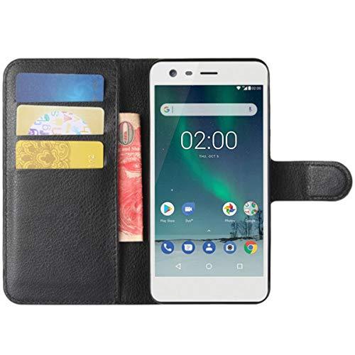 HualuBro HTC Desire 626G Hülle, HTC Desire 626 Hülle, Premium PU Leder Stoßfest Klapphülle Schutzhülle HandyHülle Handytasche Wallet Flip Hülle Cover für HTC Desire 626G Tasche (Schwarz)