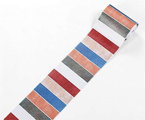 Cenefa de papel pintado con barras rojas, azules y blancas, para decoración de pared de PVC, autoadhesiva, para cocina,...