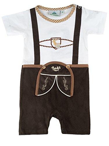 Isar-Trachten Babybody Lederhose Body Baby (80, braun11)