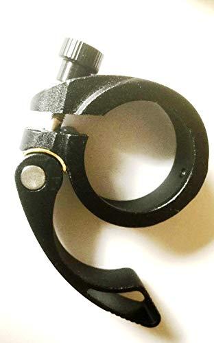 CarbonEnmy Verstärkt Sattelklemme mit Schnellspanner 40mm Aluminium Quick Release Schwarz