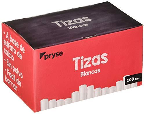 Pryse W-100 - Tizas, 100 unidades, color blanco